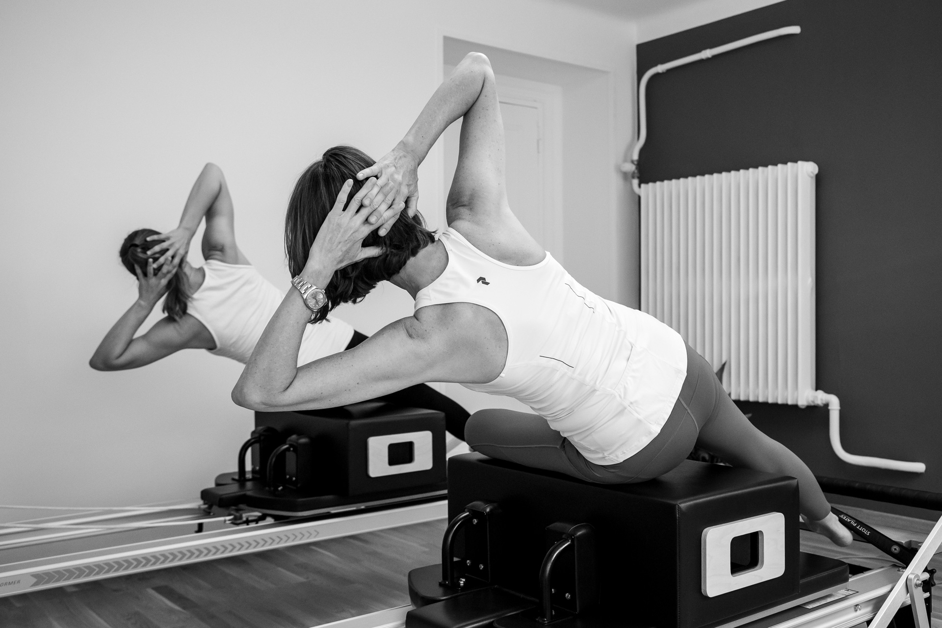 Pilates private session on reformer machine in Lausanne - Espace Pilates Mind Your Body