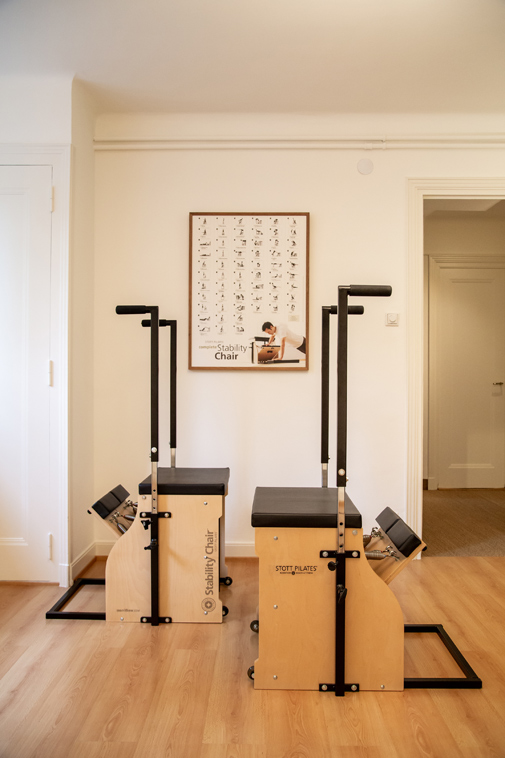 Pilates Studio stability chairs in Lausanne Switzerland - Espace Pilates Mind Your Body