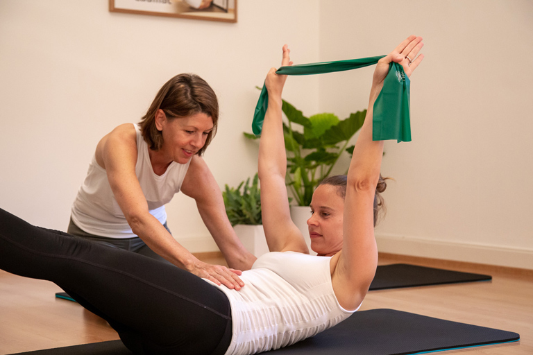 Pilates studio group classes in Lausanne